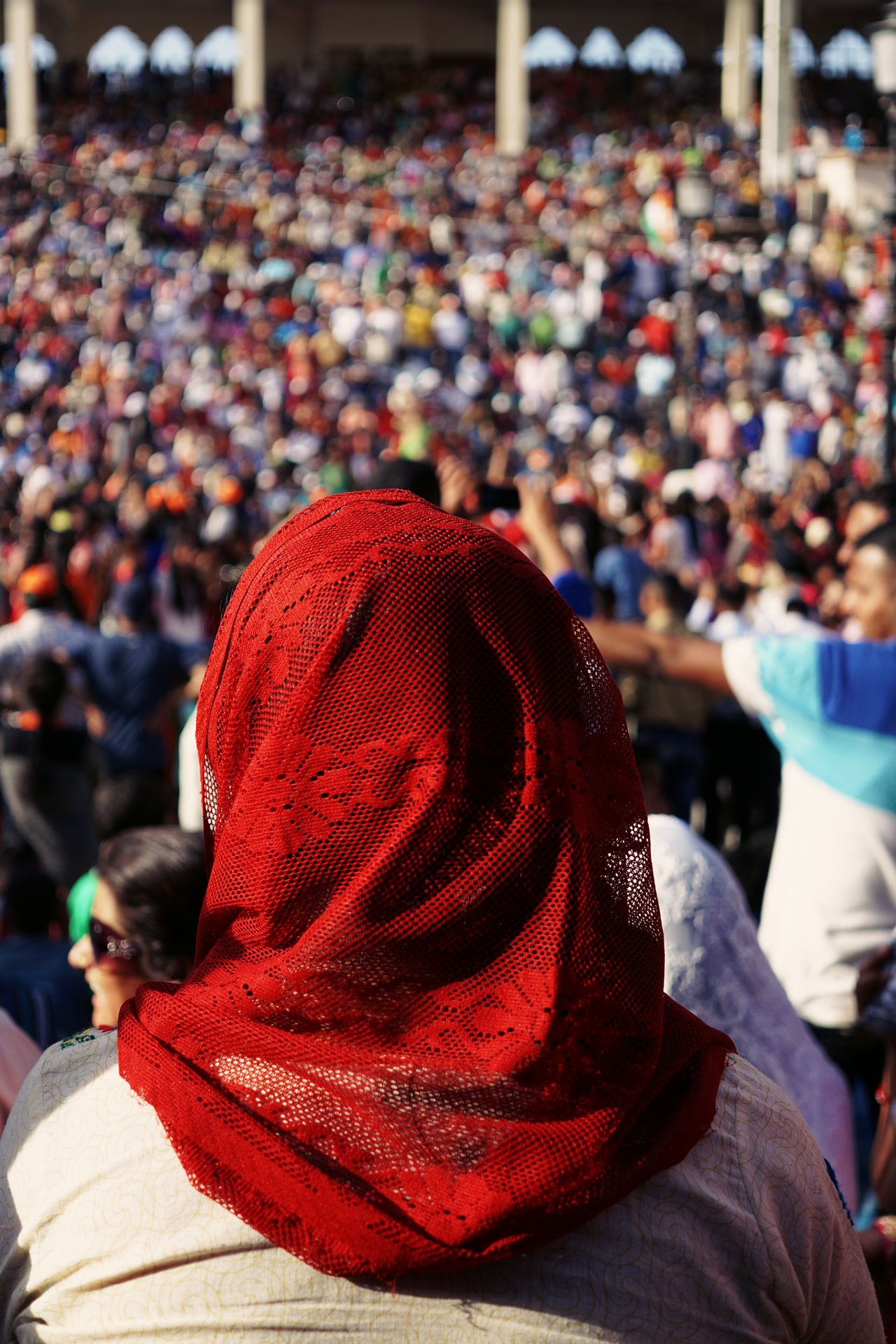Hat Crowd Red Spectator Real People People Tradition Outdoors Traditional Clothing Stadium Close-up Adults Only Only Men Men Adult Audience Day Fan - Enthusiast Headwear Young Adult