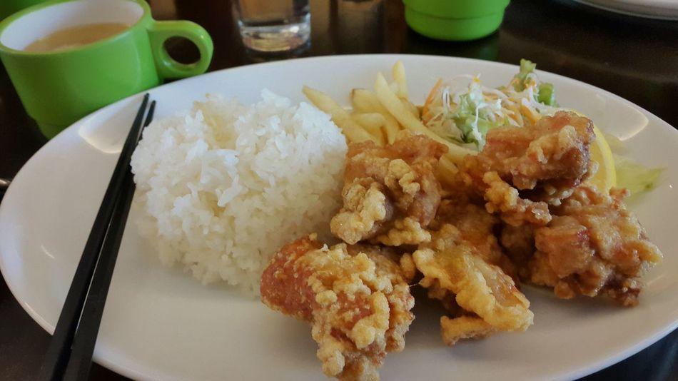 Fried chicken+ おお茶? ? おいしです ? J P Japanesetea? Eyeemfood? EyeEm Japan ?