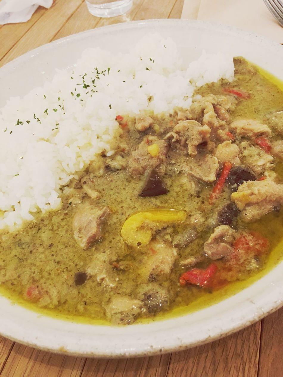 Food Greencurry Yummy♡ Delicious ♡ Lunch Tokyo Kunitachi グリーンカレー苦手だったのに今は好き💗