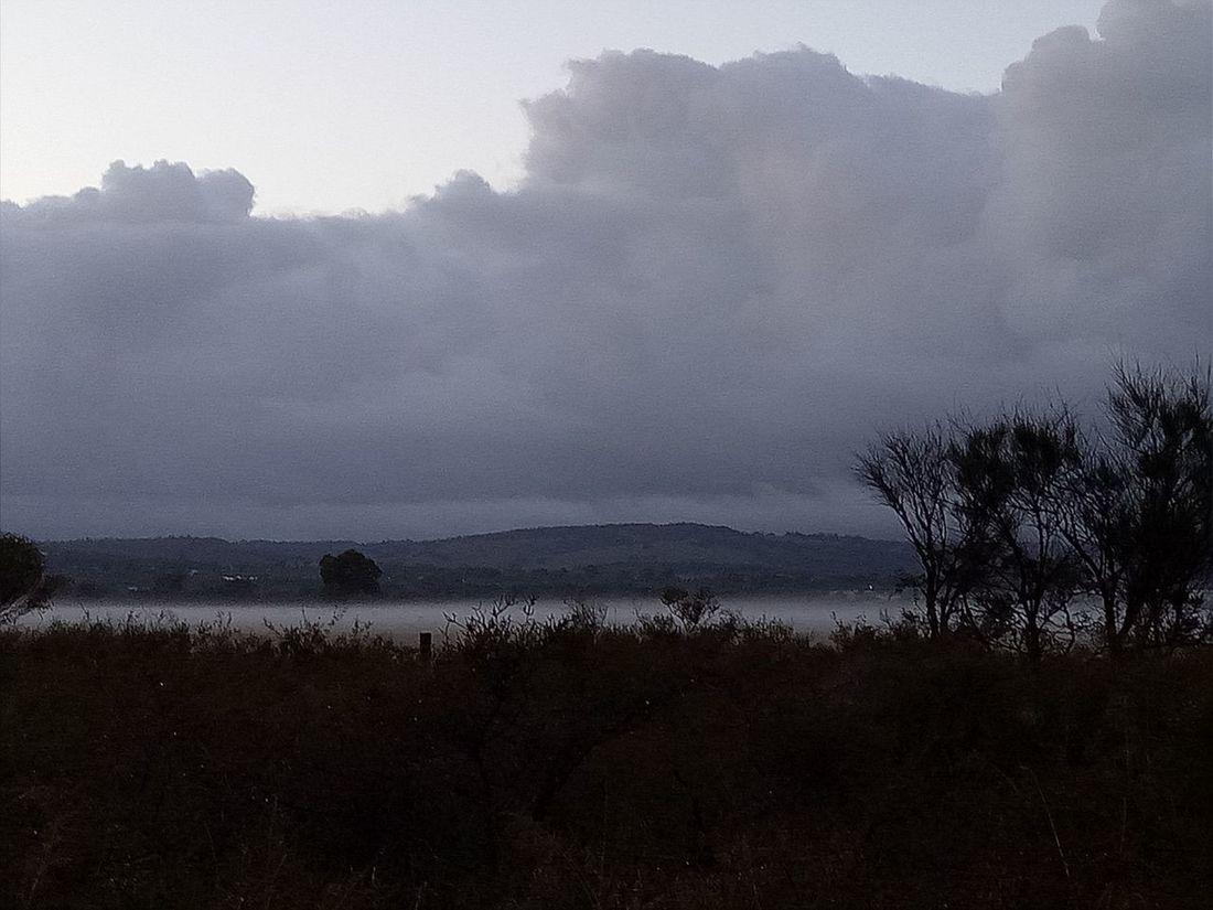 Receding storm and fog swan valley region western australia