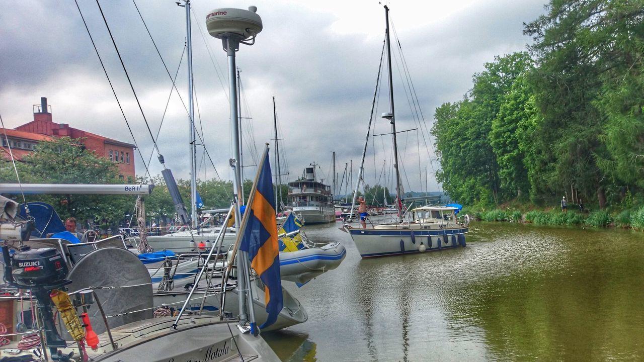 Summer In Sweden  Boat Ride Landscape Nature Harbour Enjoying Life Boat Life