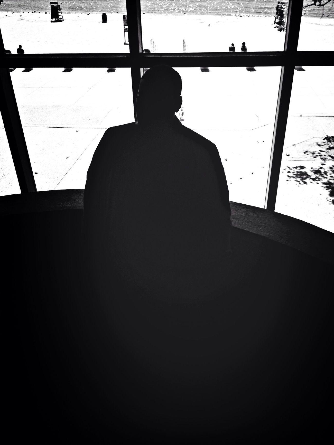 Silhouette Window Taking Photos