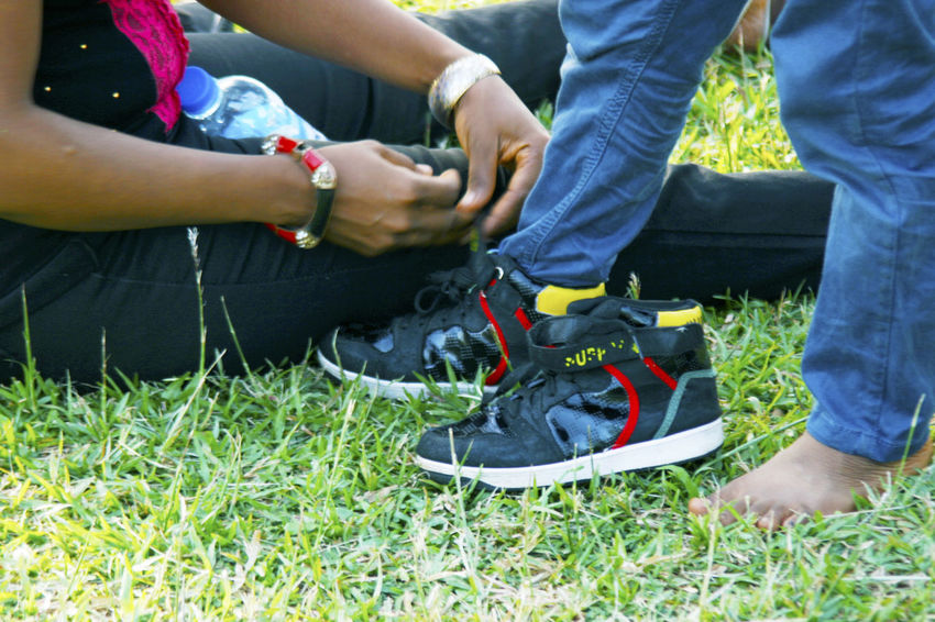 Lace Up Sneaker Lacing Old Sneaker Foot Wear  Let's Go. Together.