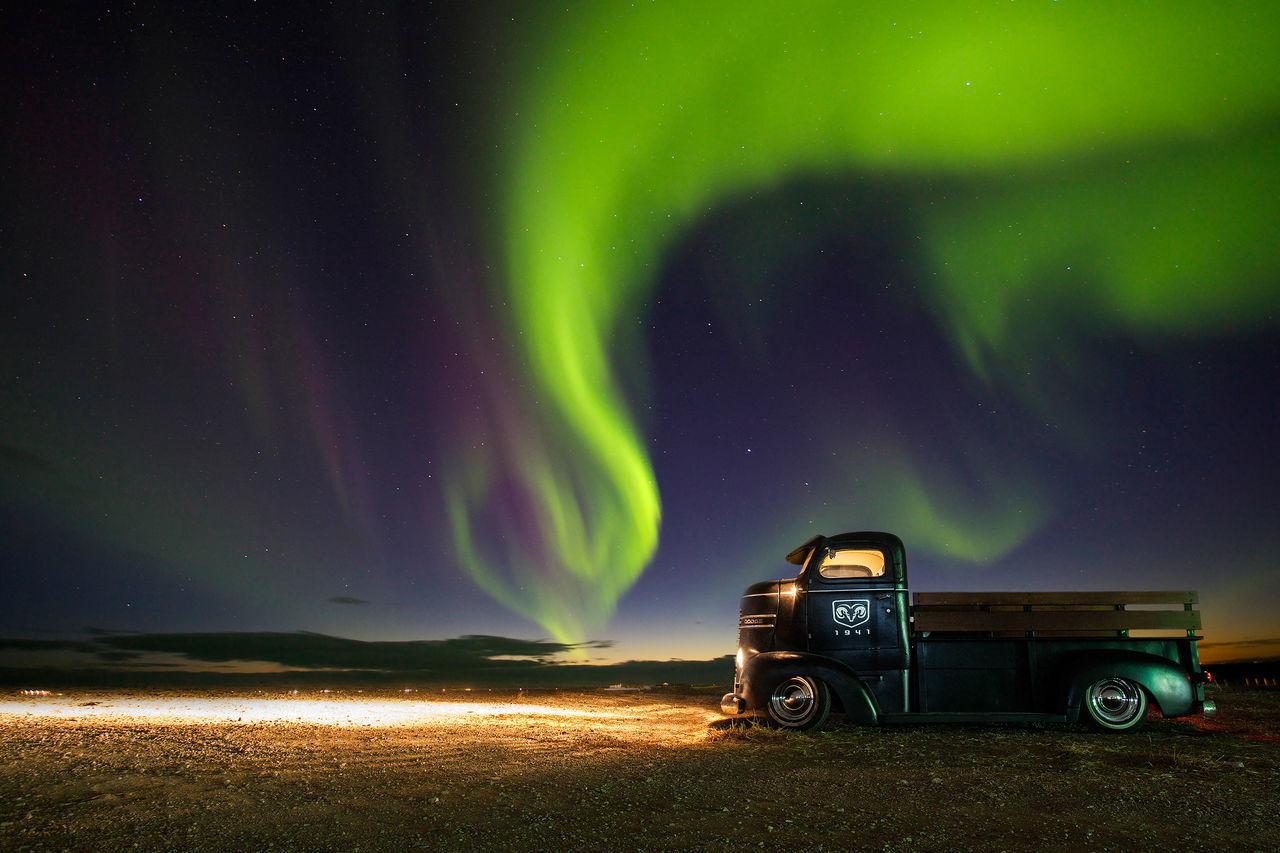 Beautiful stock photos of lkw, green color, night, star - space, aurora polaris