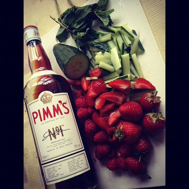 My photography Check This Out Drinking Pimmsoclock Hanging Out Strawberry Beautiful Enjoying Life Relaxing Summer Holidays