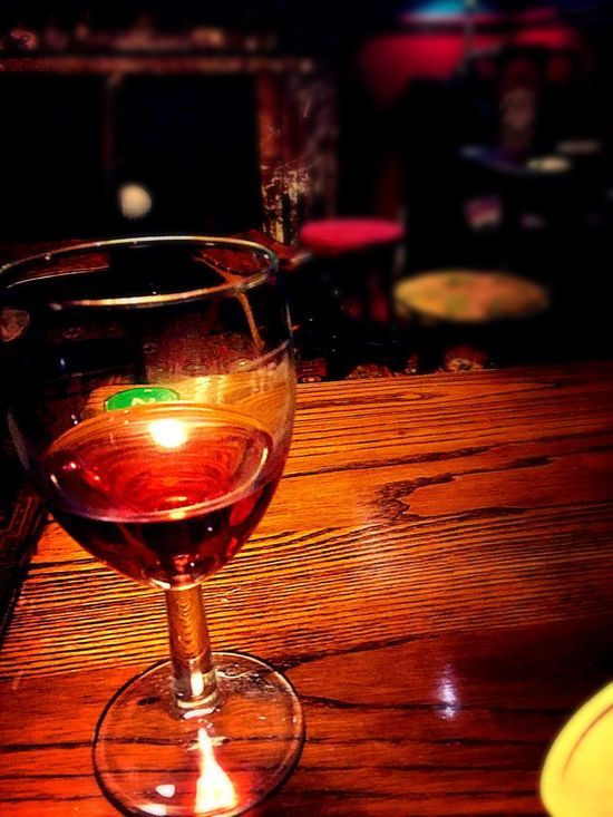 Wine Warm Pub Glass Glass On Table Glass Of Wine No One