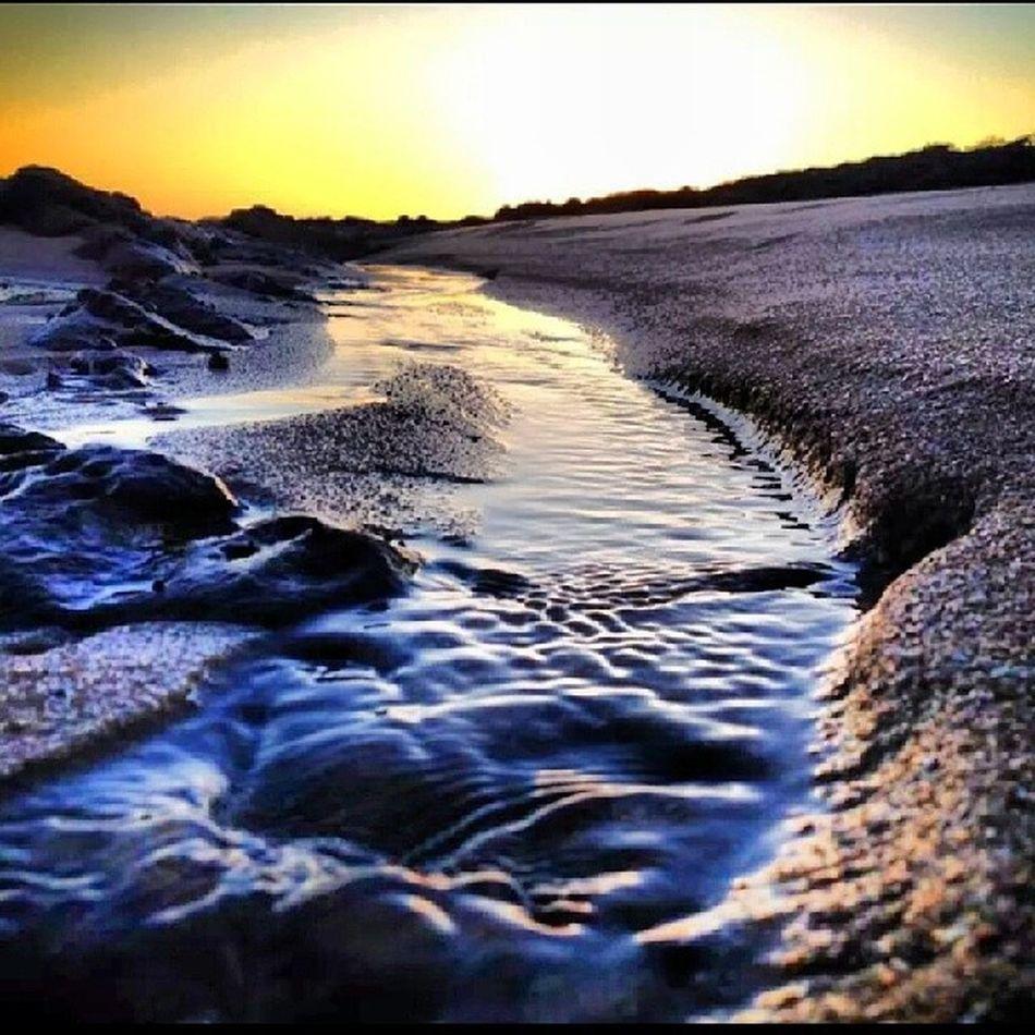 Amazing Sunset Beach Sand Water Sun Beauty Nofilter Victoria Australia Instapic Sunsetporn Picoftheday Myview Ocean Oceanside Waves, Ocean, Nature Portarlington Seevictoria
