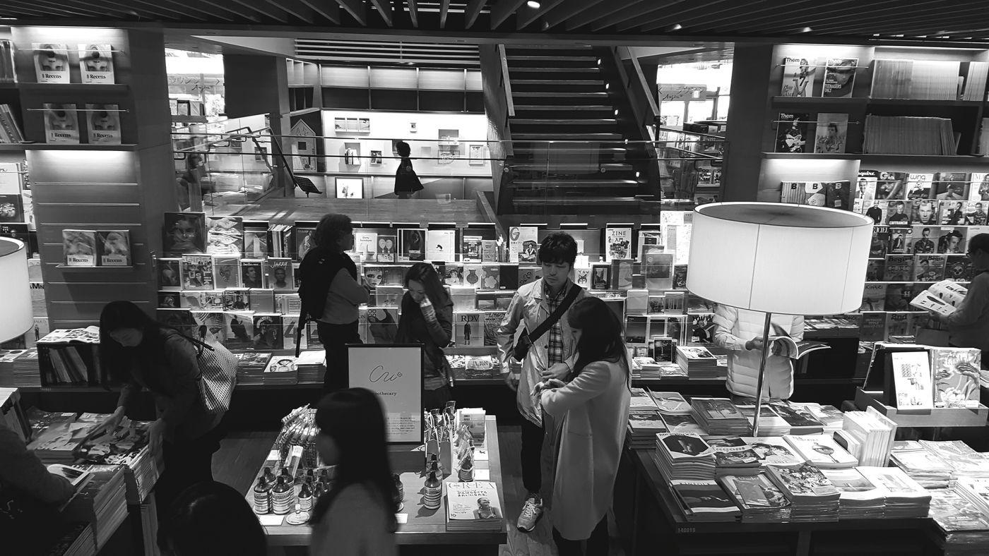 Bookstore in tokyo Indoors  People Standing Bookstorecafe Bookstore Bookstores