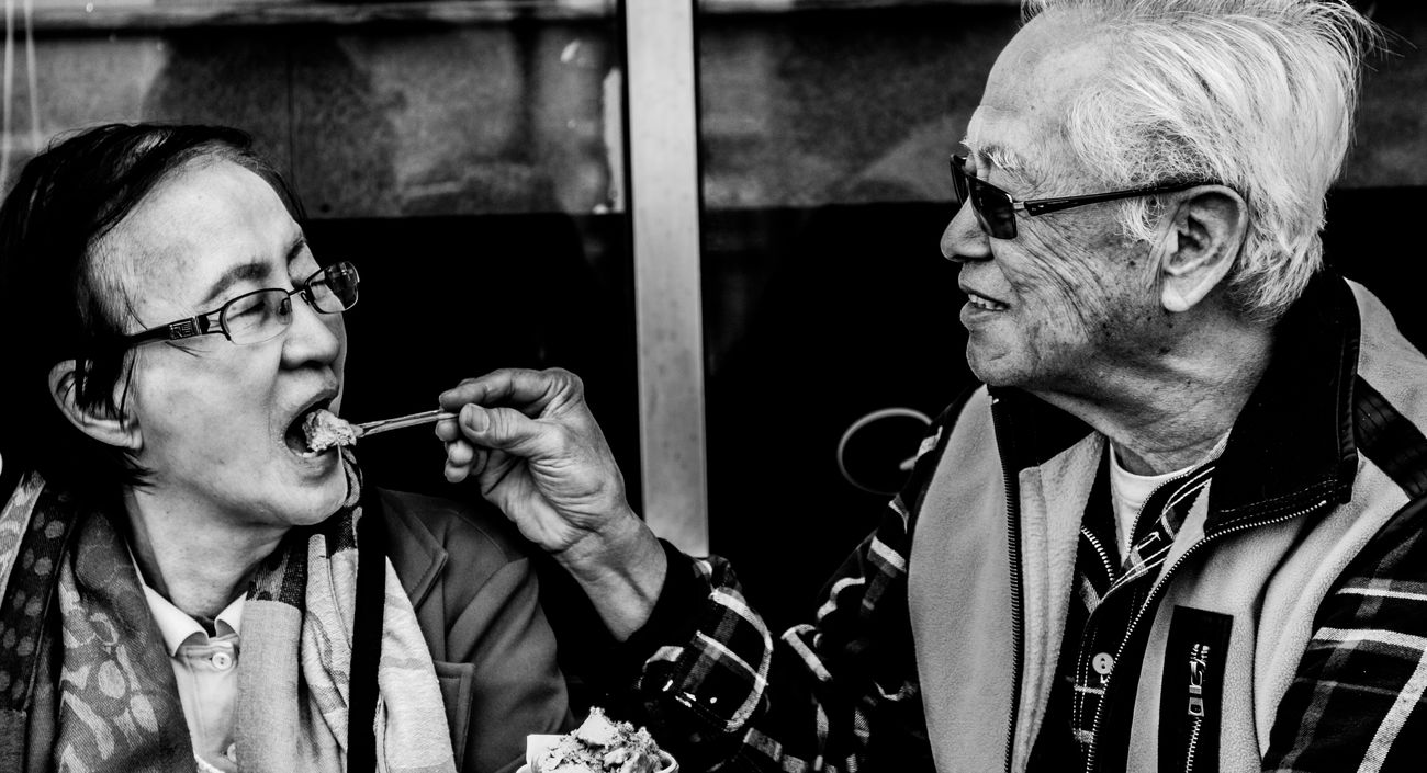 Elder Gelato Ice Cream Lifestyles Love Old People Passion Real People Togetherness Two People