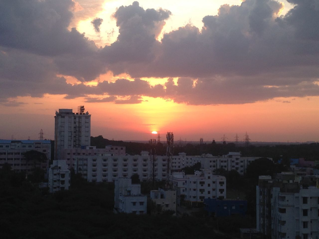 architecture, building exterior, built structure, sunset, cityscape, city, sky, cloud - sky, no people, residential building, skyscraper, outdoors, modern, nature, residential, day