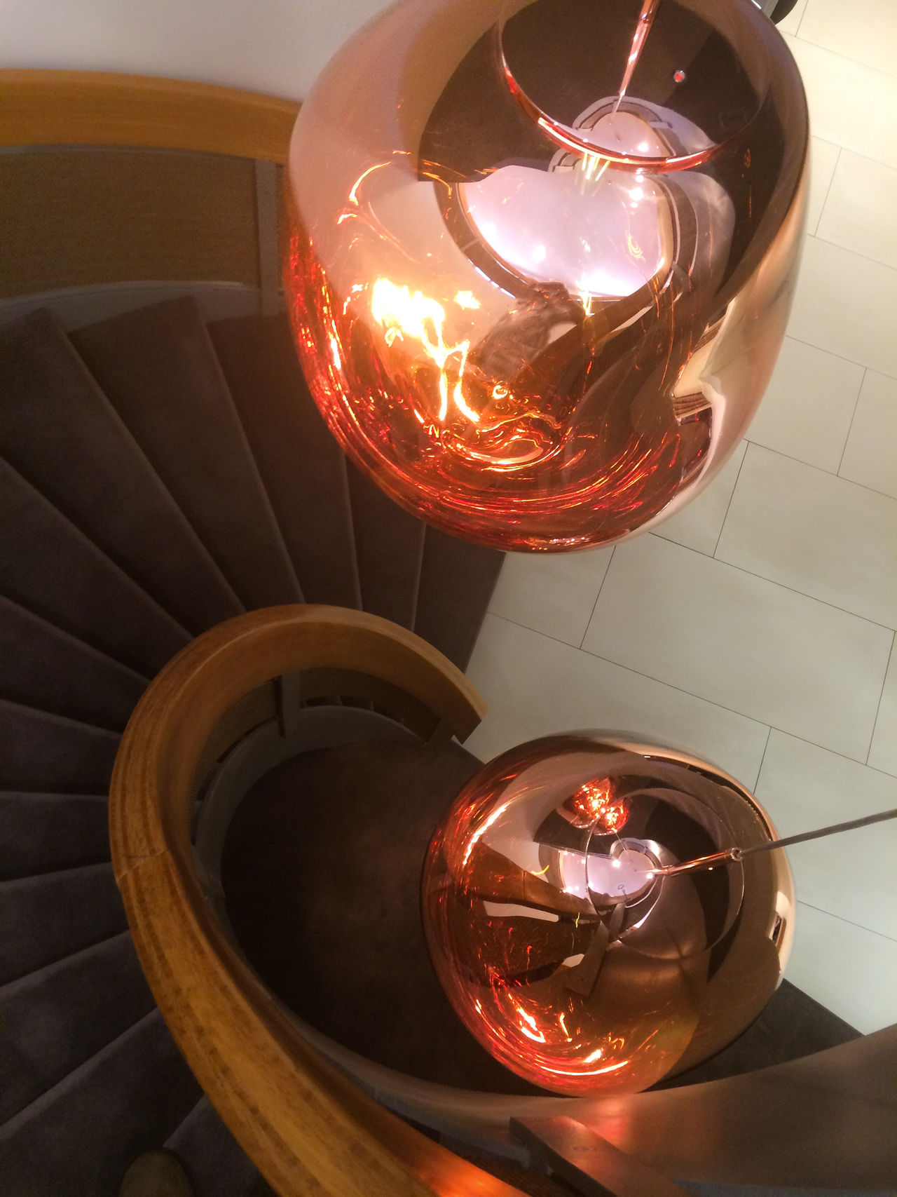 Close-up Electric Light Focus On Foreground Fourside Hotel Glowing Illuminated Lighting Equipment Modern No People Red Shiny Staircase View From Above My Left Foot