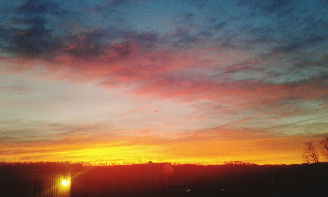 Solstice Aflame 2 Sunrise Winter Solstice Pennsylvania Beauty Pennslyvania Low Angle View Beauty In Nature Cloud - Sky Scenics Dramatic Sky Outdoors Built Structure City Building Exterior Architecture No People Silhouette Nature Day