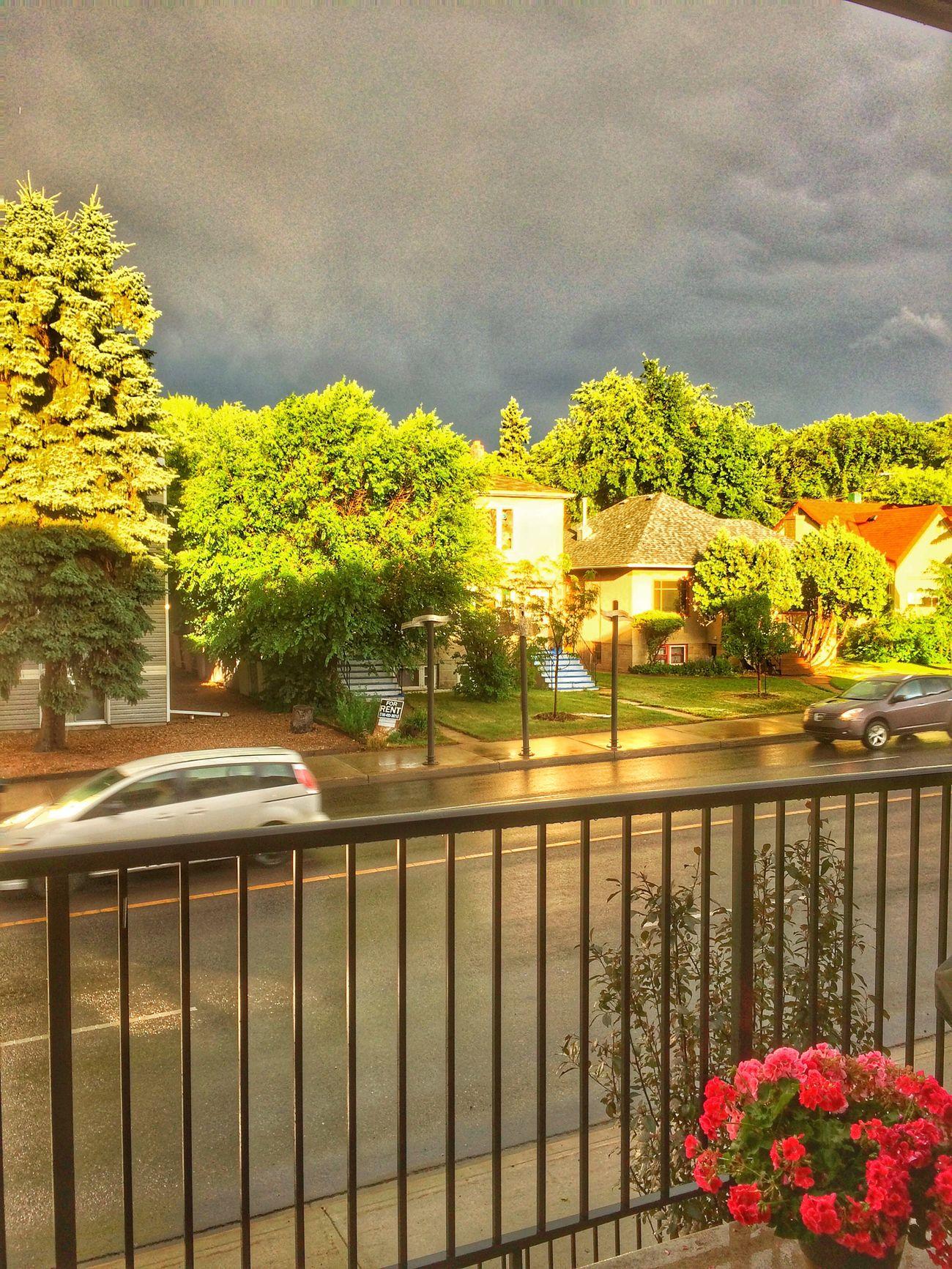 Sun breaks through after a storm. Sky Cloud - Sky Weather Sunlight Street Nature Cityscape