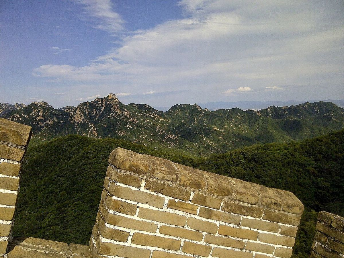 EyeEm Selects Built Structure Travel Destinations Thegreatwall Wall China Mutianyu Greatwallofchina ASIA History The Past Architecture Cloud - Sky Mountain Nature