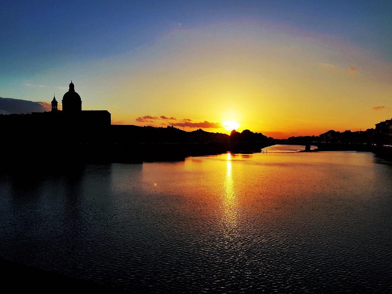 Ponte alla Carraia e Chiesa di San Frediano Firenze Florence Italy Italia Sunset Tramonto