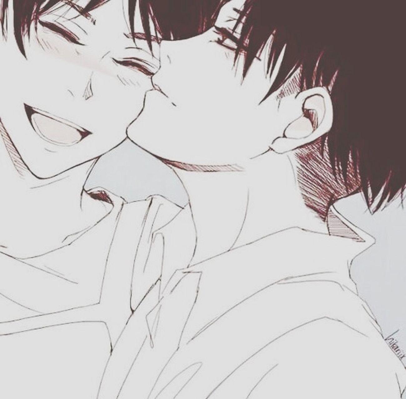 Manga Anime Smile Fujoshi Blackandwhite Gay Otaku Riren Yaoimanga Animelover