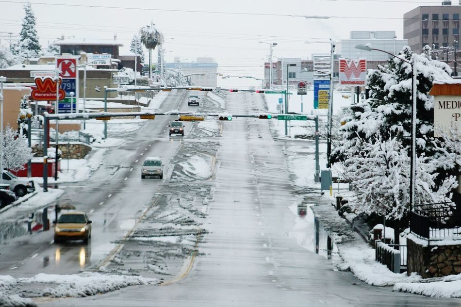 Mesa Street ElPasoTX Snow Its Cold Outside