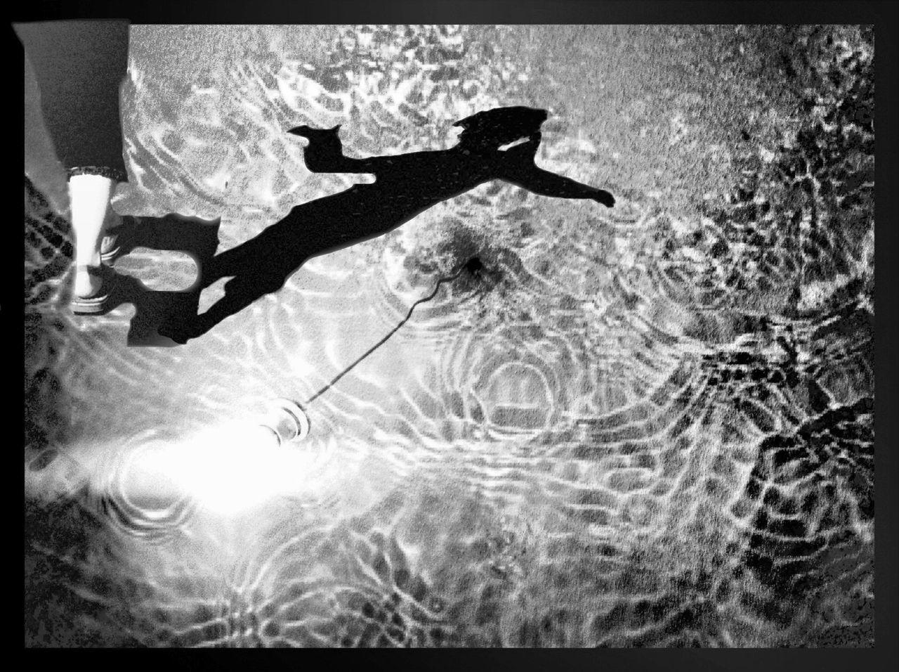 Digital Composite Woman Walking On Water