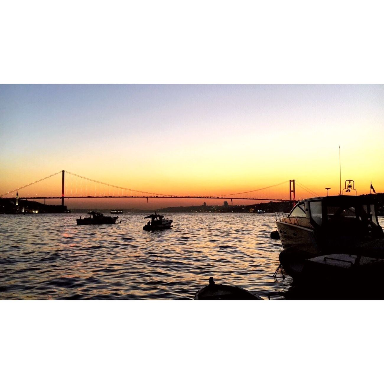 Sunset Water Sea Clear Sky Nature Beauty In Nature Istanbul Bosphorus Bridge