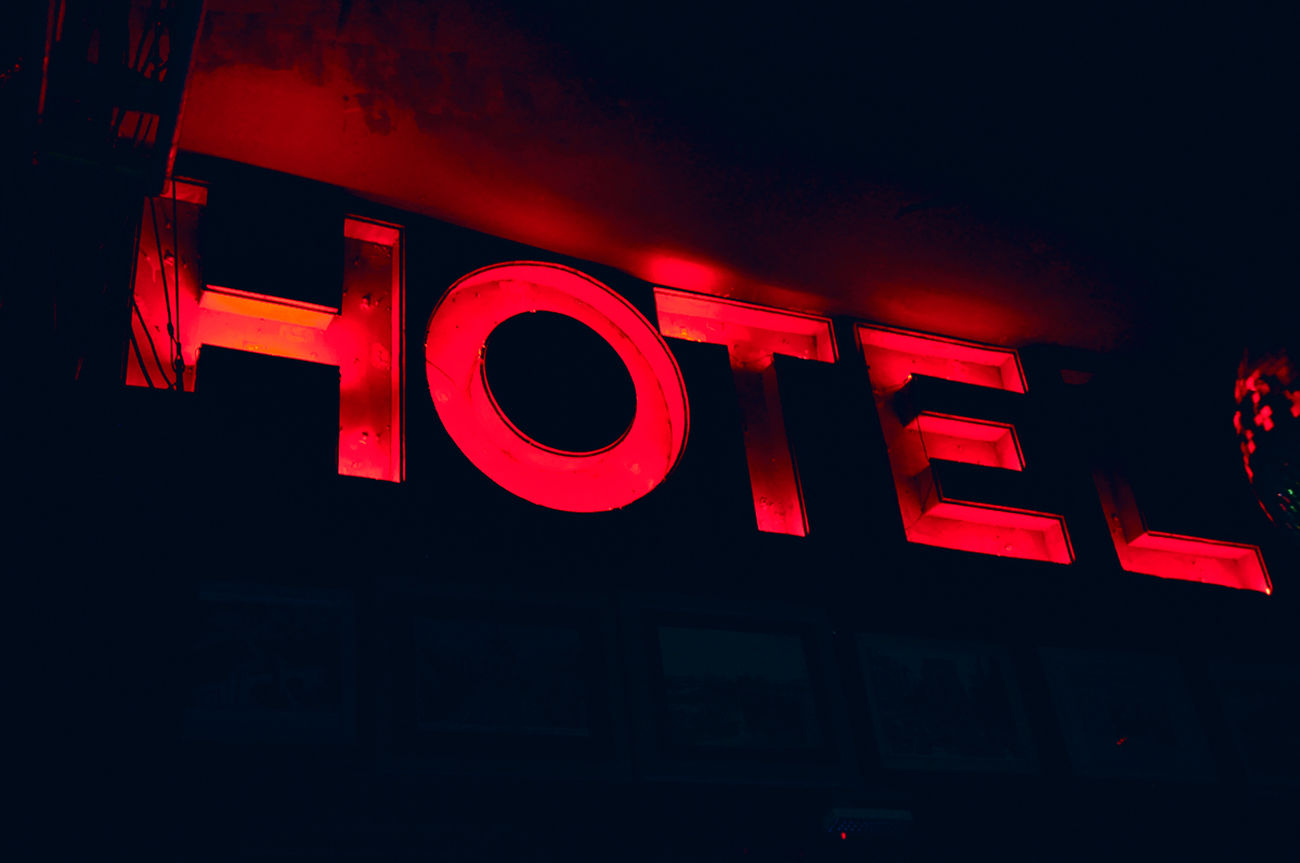 Hotel Party Night Lights Tipography