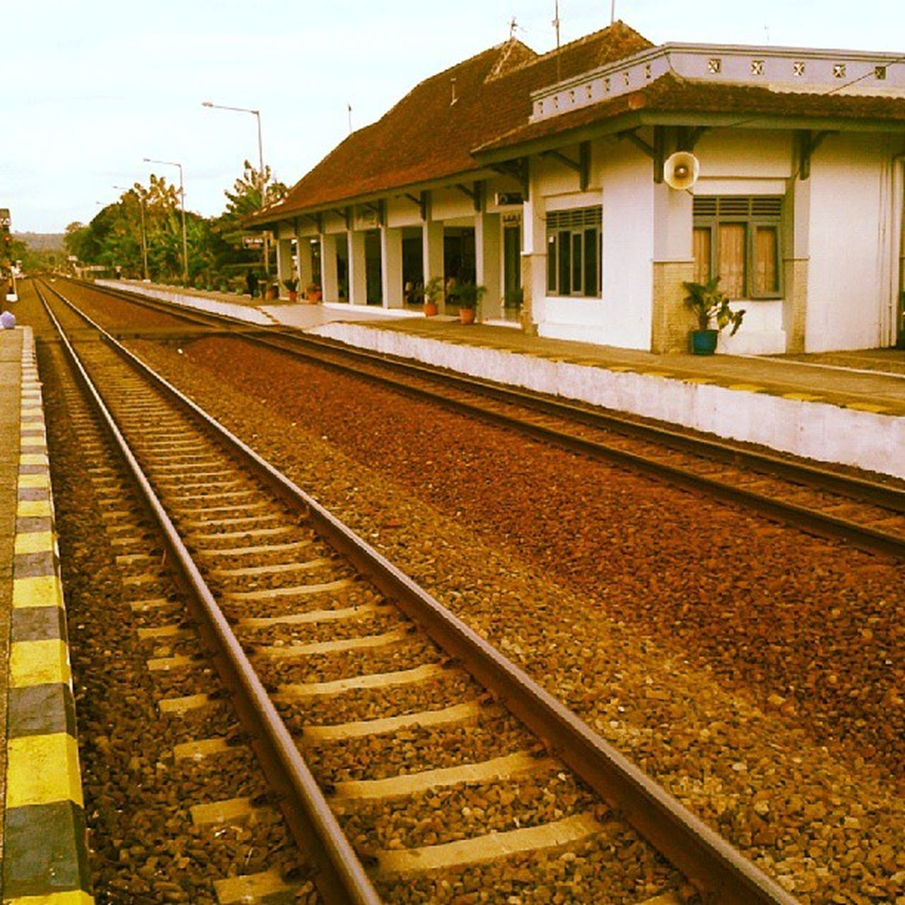 There's no ending Railways Train Station Hometown Wates Kulonprogo Jogja Yogyakarta INDONESIA Instagood Instamoment Webstagram Photooftheday Webstapick Road End Ending Travel Transportation Vacation
