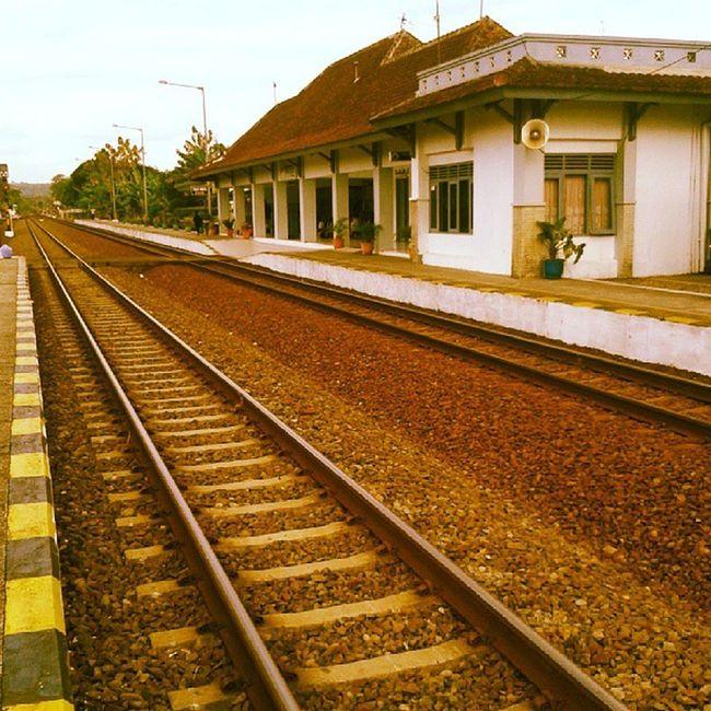 There's no ending Railways Train Station Hometown Wates Kulonprogo Jogja Yogyakarta INDONESIA Instagood Instamoment Webstagram Photooftheday Webstapick Road End Ending Travel Transportation Vacation