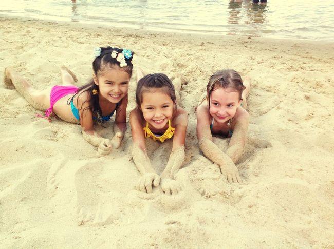 Funny Day Aktobe Children On The Beach In Sand Littleprincess