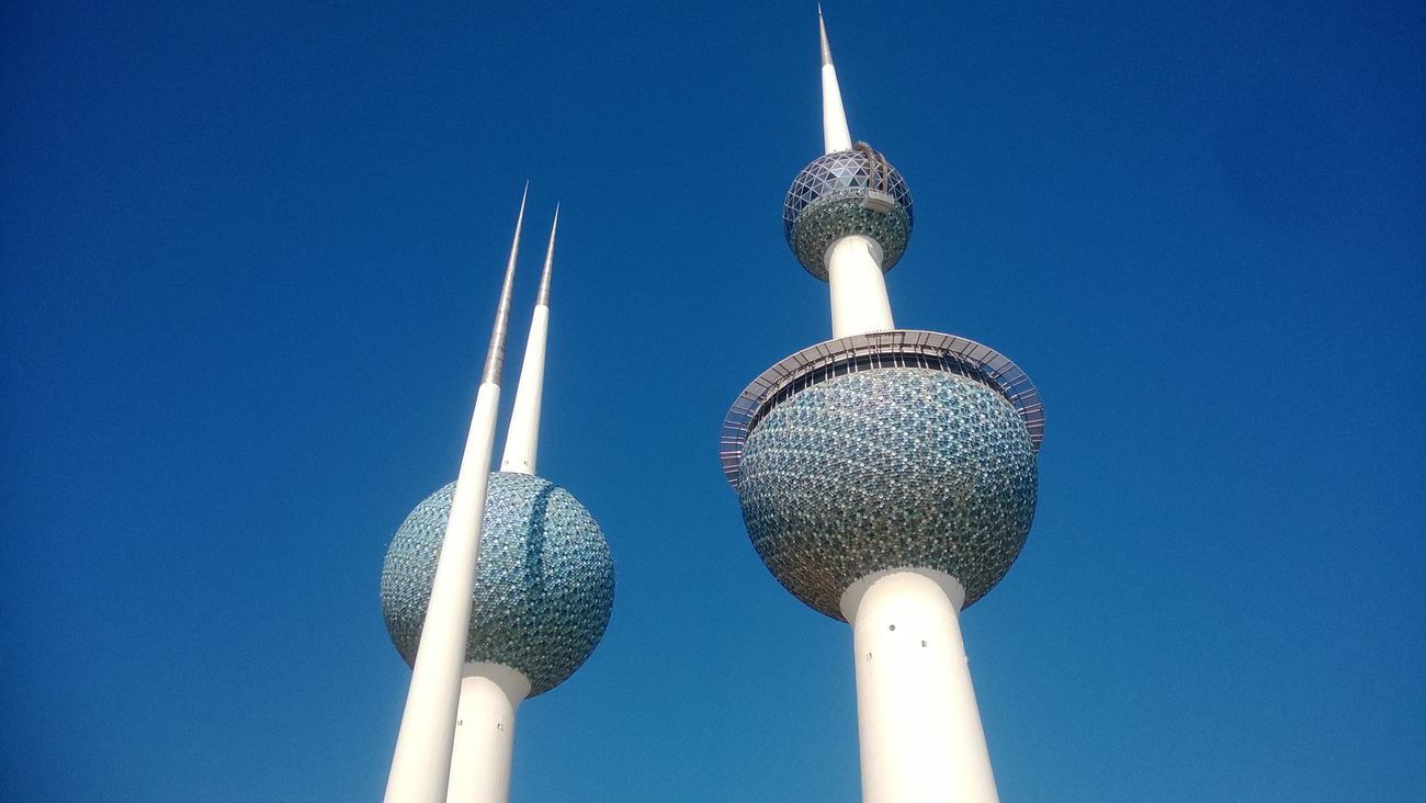 Architecture Blue Clear Sky Day Kuwait Towers No People Outdoors Tall - High Tower Travel Destinations