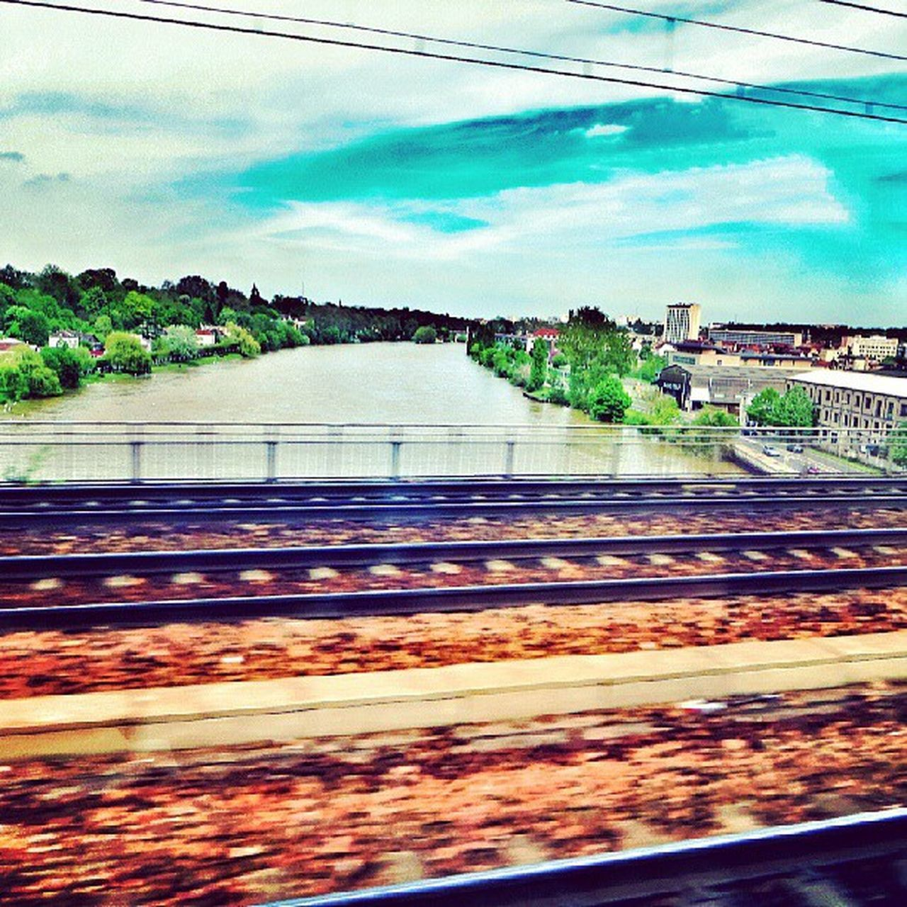 Paris Sienne_river Viewfromtrain Awesome
