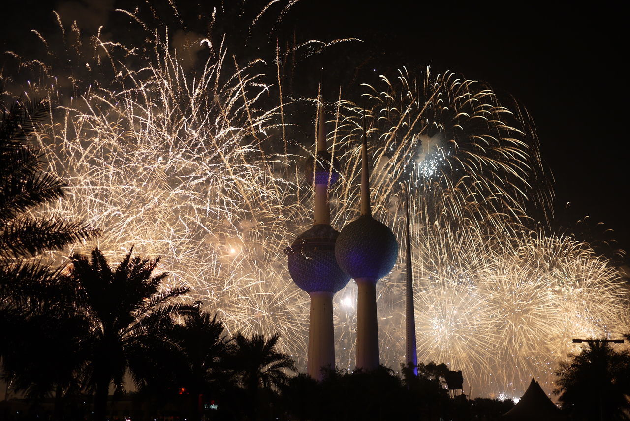 BANG!!!! Beach Best_shot Celebration City Dark Desert Event Fire Firework Display Fireworks Hot Illuminated Kuwait Kuwait City Kuwait Towers Landscape Light Multi Colored Night No Edit/no Filter No People Outdoors Sky Summer