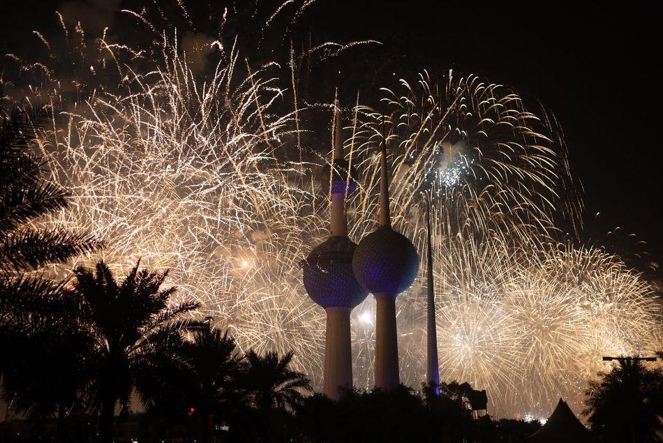 BANG!!!! Beach Best_shot Celebration City Dark Desert Event Fire Firework Display Fireworks Hot Illuminated Kuwait Kuwait City Kuwait Towers Landscape Light Multi Colored Night No Edit/no Filter No People Outdoors Sky Summer