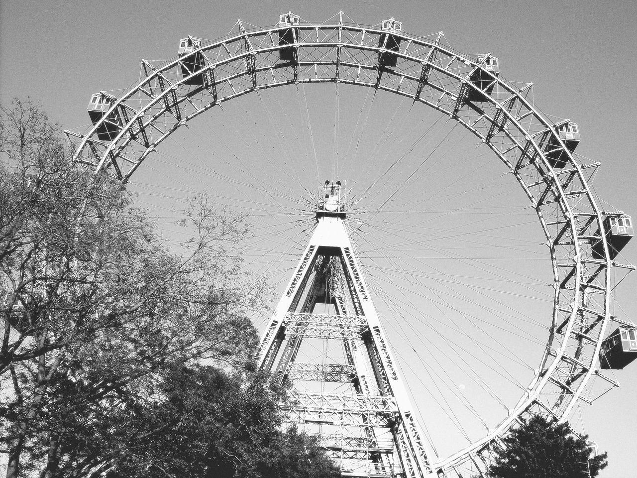 Amusement Park Amusement Park Ride Big Wheel Day Ferris Wheel Low Angle View No People Outdoors Riesenrad Riesenrad Wien Sky