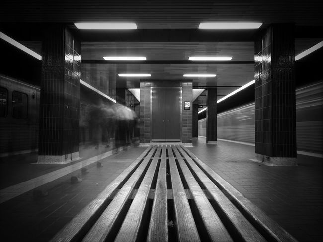 Rush Hour at Kipling. IPhoneography Long Exposure Bw_collection Subway