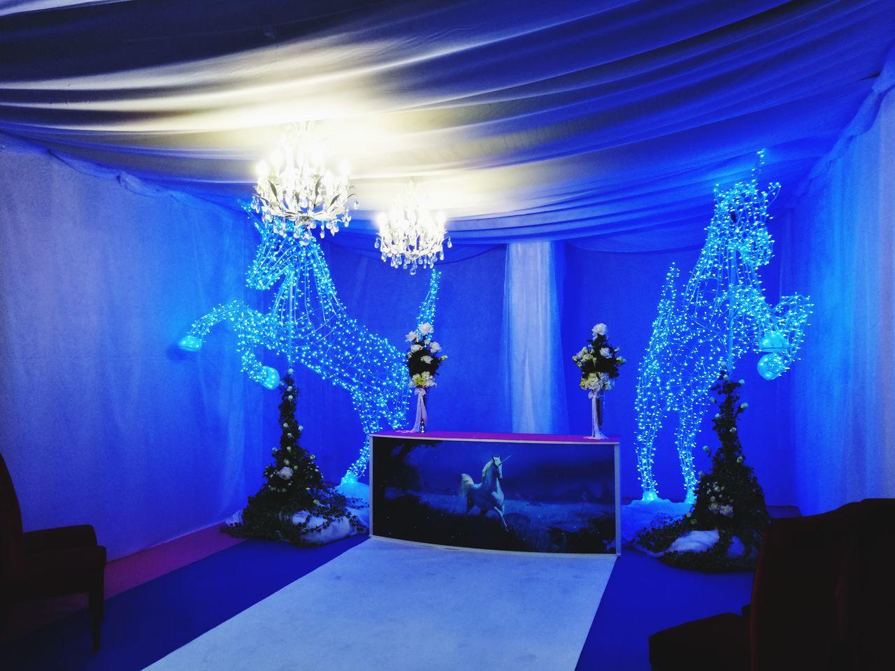 Indoors  Architecture Luxury Blue Illuminated