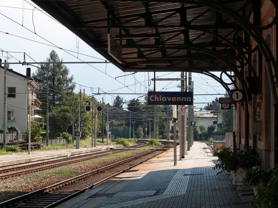 Architecture Built Structure City Clear Sky Day No People Outdoors Railroad Station Platform Railroad Track Sky The Way Forward Transportation Travel Destinations Tree