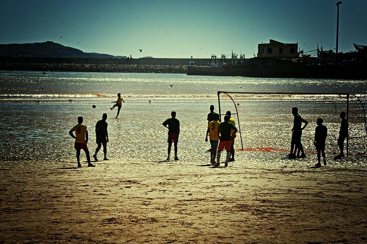 Football Fever People Playing Football By The Sea Corner Kick Having Fun Football On The Beach Improvised Football Pitch On The Sand Football Field Localscene Local Culture Footballislife Football Is Here Malephotographerofthemonth Taking Photos Capture The Moment Check This Out Football Time  Seaside Football Game - Essaouira Morocco