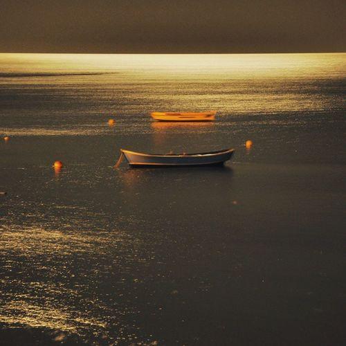 Boat Cockboat Moonlight Nature Night No People Sea Small Craft Water