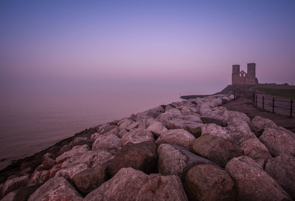 Reculver Towers... Ancient Civilization Coats Footpath Horizon Over Water Kent Outdoors Physical Geography Reculver Rock Rock - Object Sea Stone Stone - Object Stone Wall Tower Tranquil Scene Tranquility Water