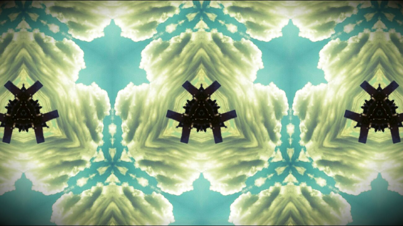 Kaleidoscope Clouds And Sky Blue
