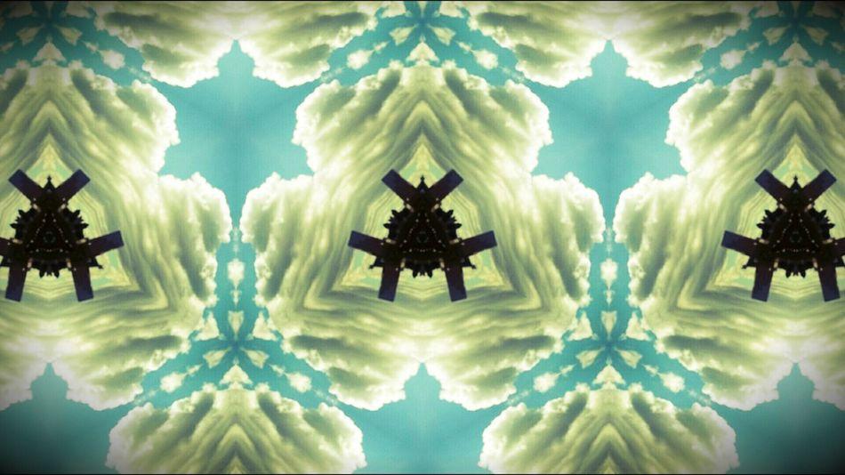 Kaleidoscope Clouds And Sky Blue