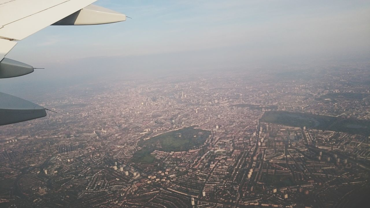 London Lifestyle Aerial View Flying Sky No People Airplane Nature Outdoors Tranquility Scenics Day Beauty In Nature Airplane Wing London Commercial Airplane Aerospace Industry Air Vehicle Landscape Cityscape Travel Aircraft Wing City Nature