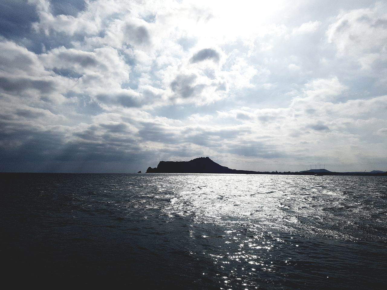 Deep blue sea and cloudy sky Dark Blue Sky With Son Family Trip Outdoors No People Sky Winter Day Tourism Beauty In Nature Travel Blue Sea Jeju Island, Korea Sunset Nautical Vessel Small Fishing Boat. Jeju Travel Jeju-island Sailing Boat Larus Argentatus Winter 2017