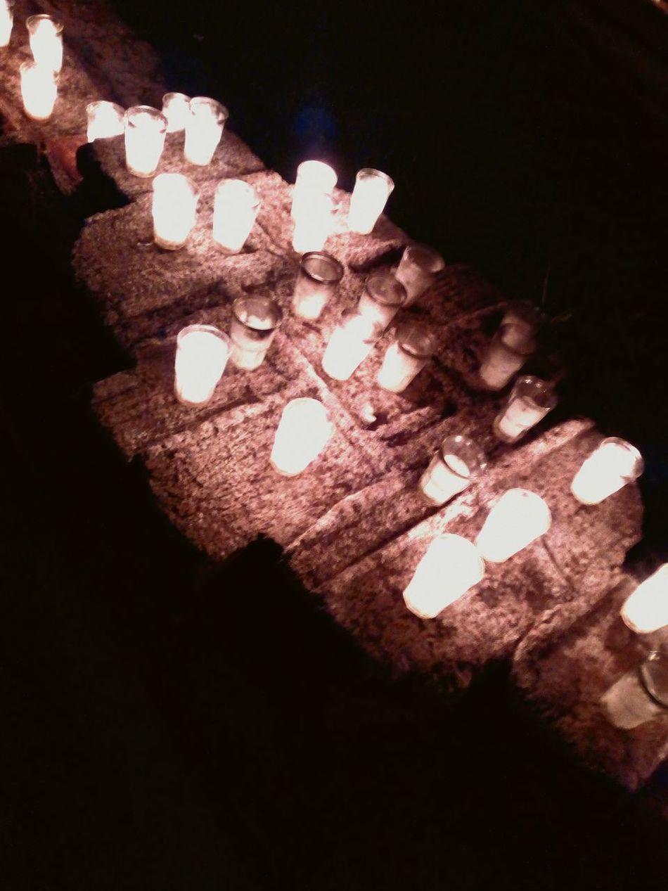 AntiguaGuatemala! ❤ Casa Santo Domingo Dark Candles :)