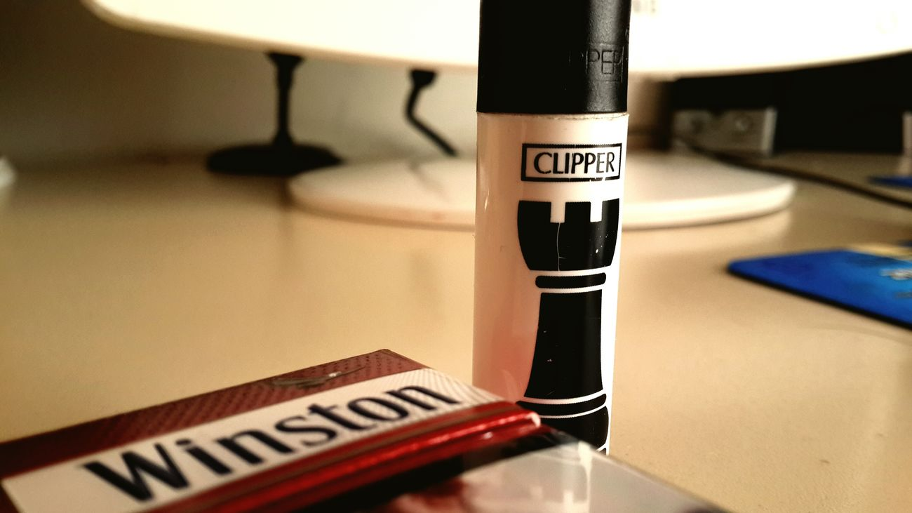 Winston Box Clipper Smoking Powercam Retrica✌ Retrica Instagram Red Black & White