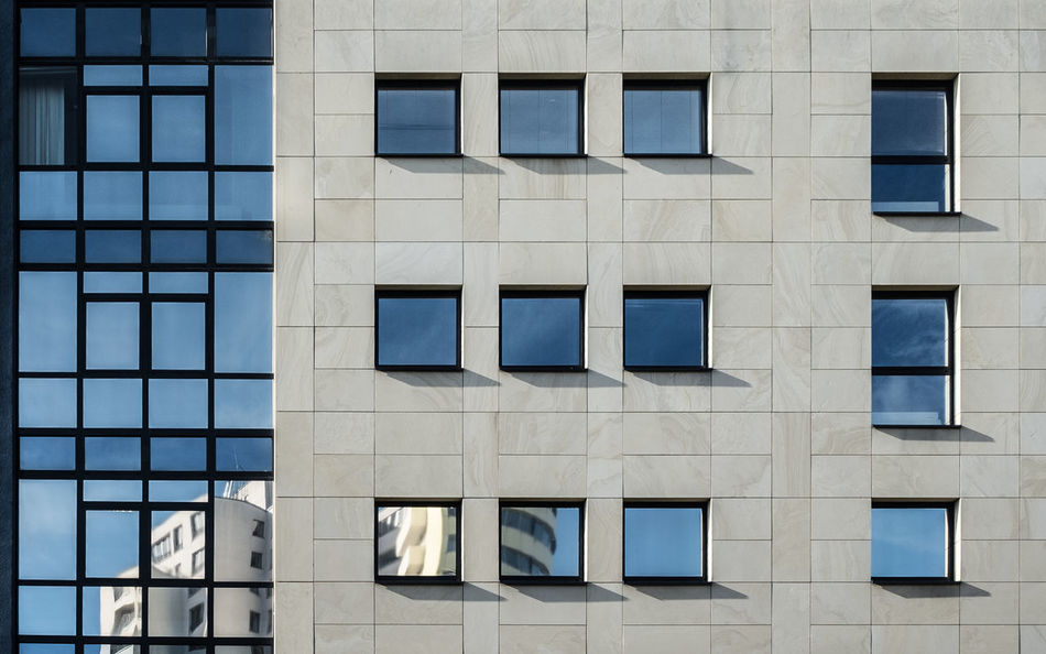 Facadewindowreflection Architectural Feature Architecture Architecture_collection Architecturelovers Backgrounds Berlin Berlin Photography Building Exterior Building Story Built Structure Cityscape Day Façade Modern Modern Architecture No People Outdoors Reflection Urban Geometry Urbanphotography Window