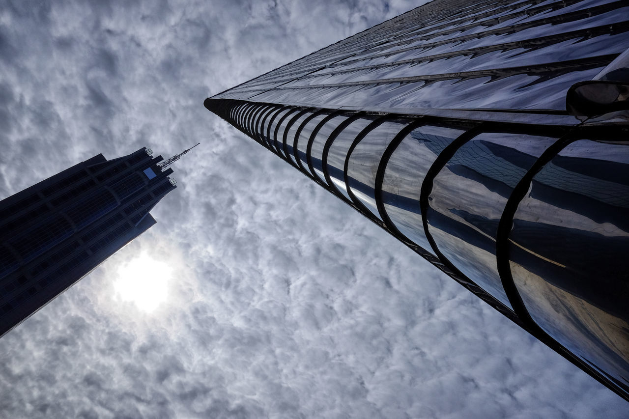 When buildings meet Architecture Building Exterior Built Structure City City Cloud - Sky Day Holland Low Angle View Netherlands No People Outdoors Rotterdam Sky Skyscraper Tall Tower