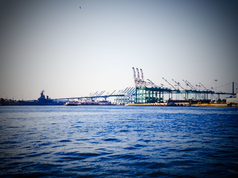 Port Of Los Angeles Battleship Row Original Experiences Portsocall Portoflosangeles Portofla Eye4photography  IShootFromMyWheelchair Vessels Vessels In Port Maritime Merchantmarine My Perspective Battleship Iowa Landscape_photography Pacific Ocean Outdoors Outdoor Photography Ports O' Call Eyeemphotography EyeEm Eyeem Market Perspective Harbor Wide Angle Port Of Los Angeles Landscape_photography