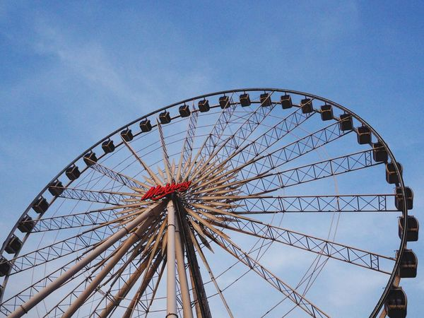 Ferris Wheel Arts Culture And Entertainment Amusement Park Low Angle View Leisure Activity Sky No People Outdoors Day Big Wheel Asiatique The Riverfront