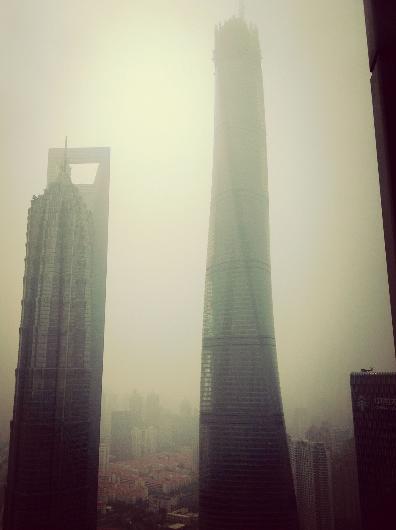 Smog in Shanghai Shanghai, China Smog Pollution In My World Shanghai Tower