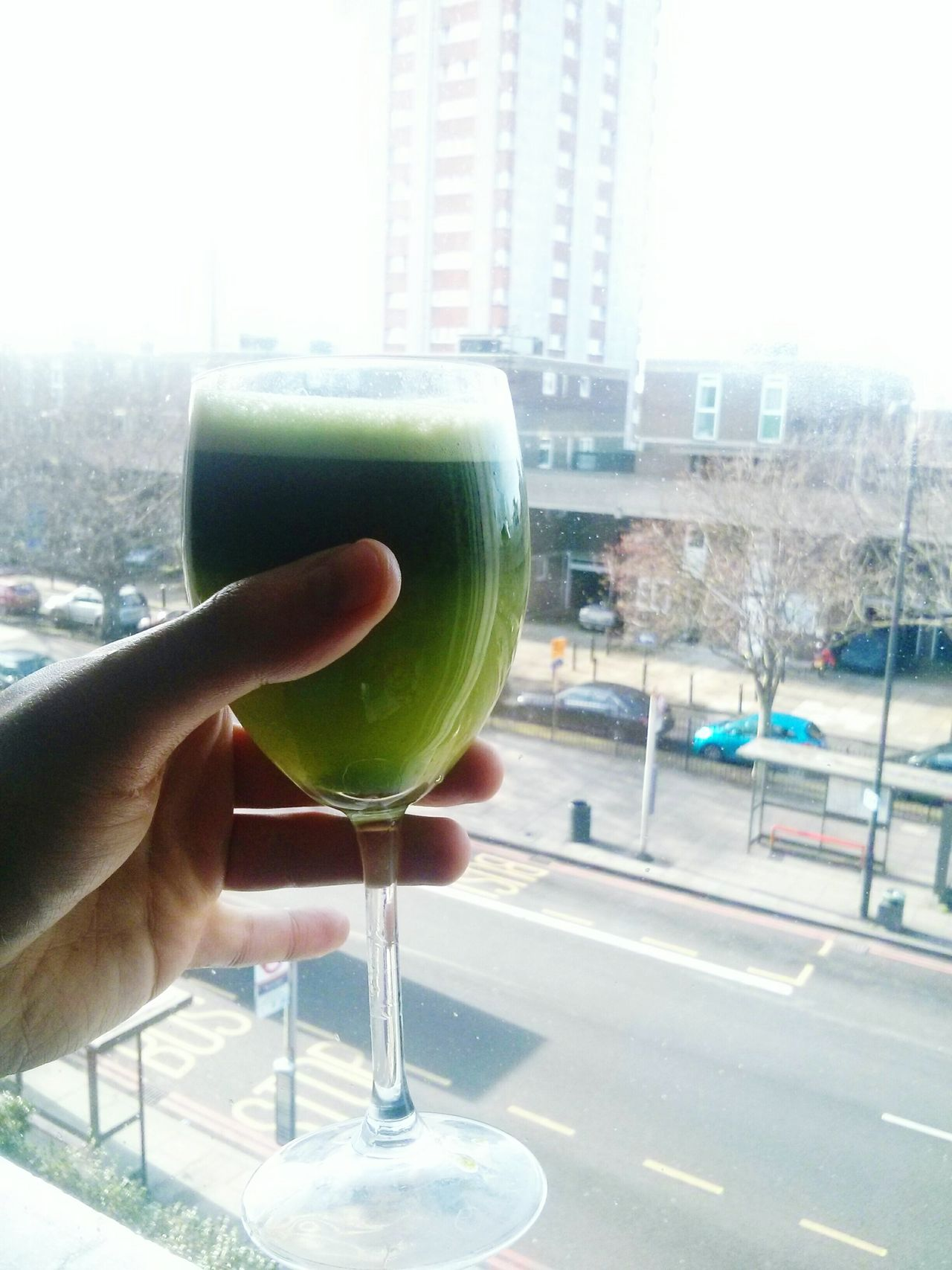 Colors Of Carnival Green Juice Detox Urban Landscape Healthy Energise Smoothie Skyscraper